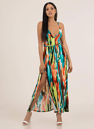 New Palette Painted Double Slit Maxi