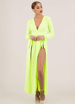 Get Leggy Tonight Double Slit Maxi