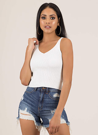 Better Basics Rib Knit Tank Top