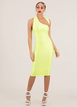 Curves Asymmetrical Cut-Out Midi Dress