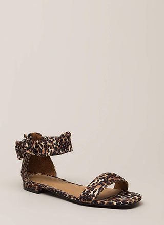 b30623ae50f651 Leopard In Love Ankle Strap Sandals