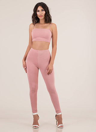 Perfect Match Tank Top And Legging Set