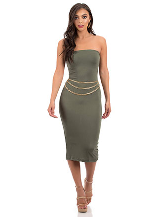 It's Tube Perfect Strapless Midi Dress