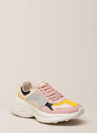 Colorblock Party Paneled Sneakers
