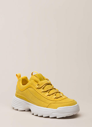 Run The World Faux Suede Sneakers
