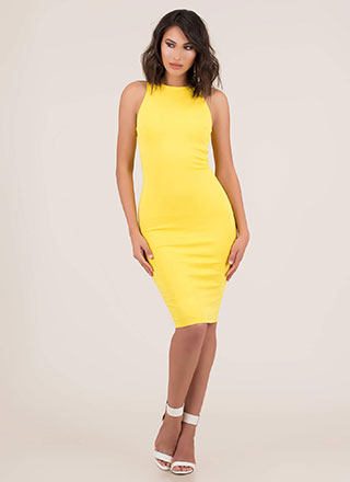 Simple Satisfaction Bodycon Midi Dress