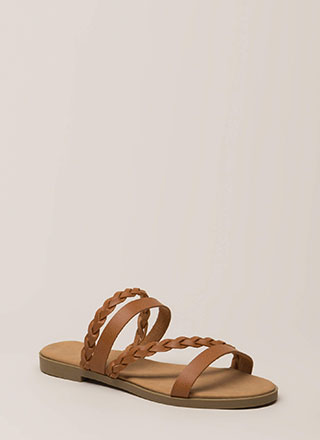 Four Good Braided Strap Slide Sandals