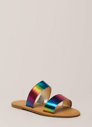 Color Me Good Rainbow Slide Sandals