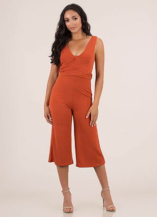 Wrapped Up Tied Cropped Jumpsuit