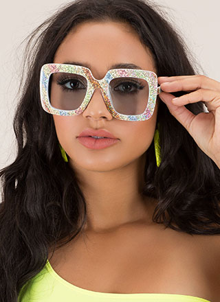Superstar Sparkly Striped Sunglasses