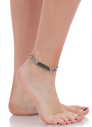 Tag You're It Chain Anklet Duo