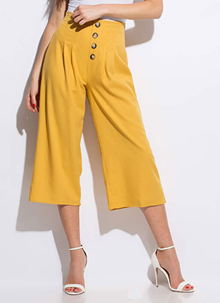 Vacation Wear Cropped Wide-Leg Pants