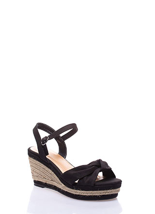 Bella Knotted Jute Trim Wedges
