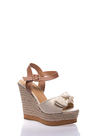 Knot To Be Outdone Espadrille Wedges