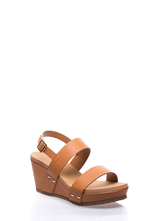 Day At The Races Strappy Platform Wedges