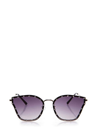 Sparkly Eyes Jeweled Ombre Sunglasses