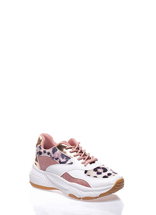 Have It All Mixed Media Leopard Sneakers