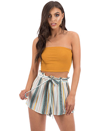 Beach Bungalow Striped Tied Shorts