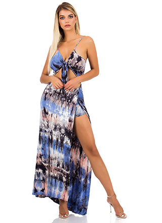 cbe122afd3b Tied And True Cut-Out Tie-Dye Maxi
