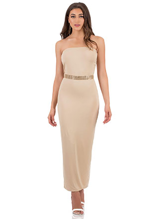 It's Tube Perfect Strapless Maxi Dress