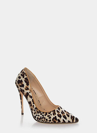 Wild Queendom Pointy Animal Print Pumps