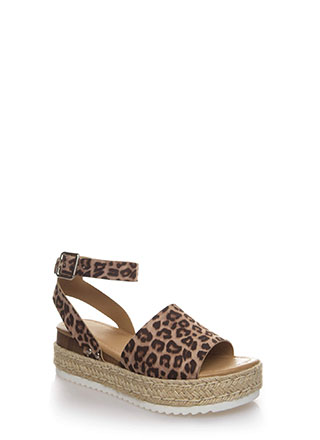 Vacation Time Leopard Wedge Sandals