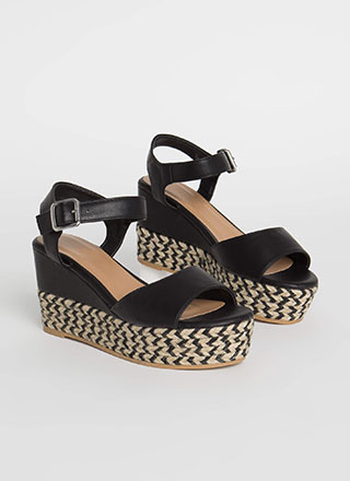 New Pattern Braided Chevron Wedges