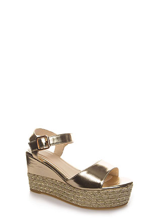New Pattern Braided Metallic Wedges