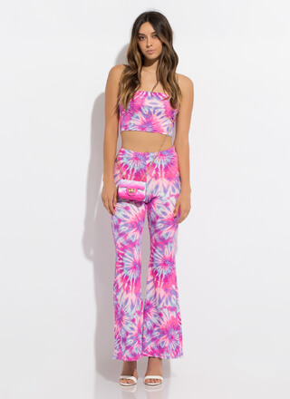 Star Burst Strapless 2-Piece Tie-Dye Set