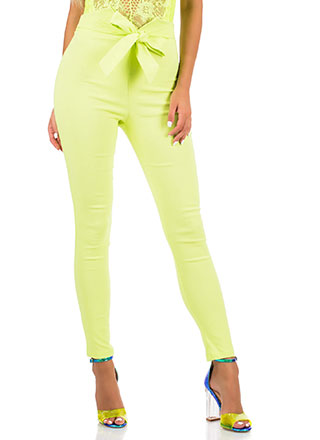 Take Your Bow High-Waisted Skinny Pants