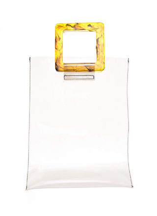 Handle Things Clear PVC Tote Bag