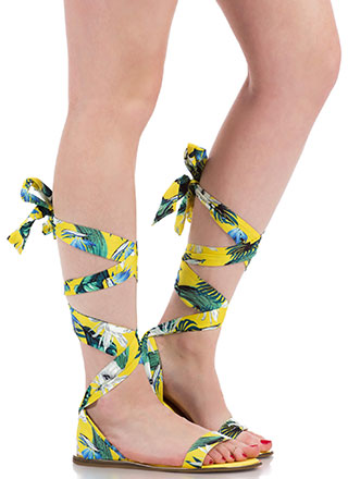The Weekender Tropical Lace-Up Sandals