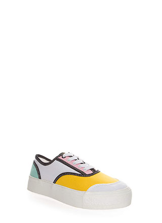 Colorblock Party Platform Sneakers