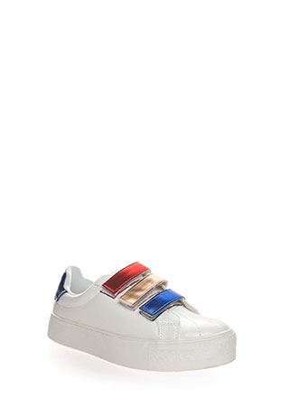3 Straps You're Out Platform Sneakers