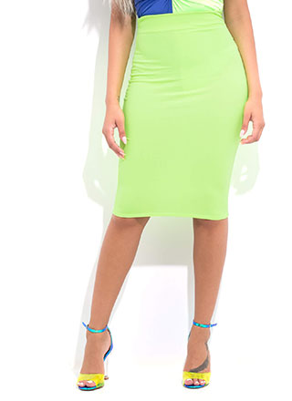 Sharp Curve High-Waisted Pencil Skirt