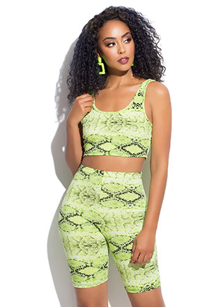Sly Like A Snake Top And Shorts Set