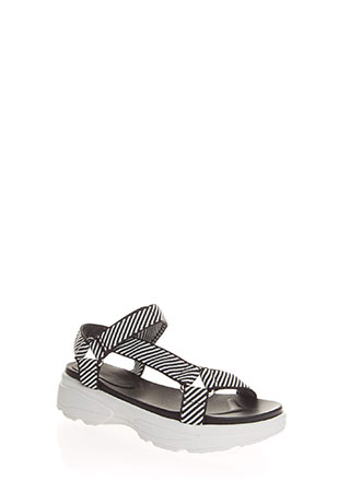 Sporty Touch Strappy Platform Sandals