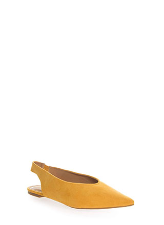 Chic Shoes Pointy Slingback Flats
