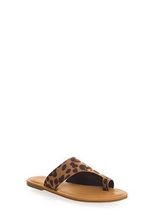 Toe Up Asymmetrical Faux Suede Sandals