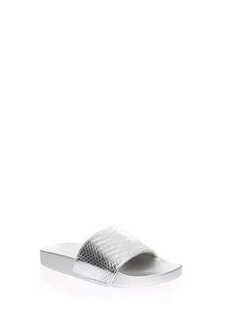 Goodness Snake Metallic Slide Sandals