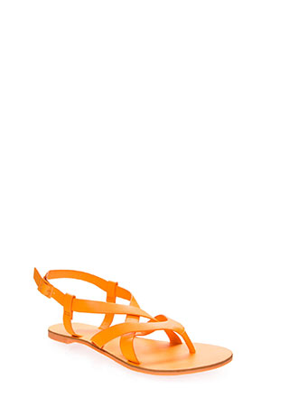 Strappy-So-Lucky Caged Thong Sandals