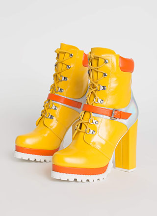 Higher Elevation Platform Lug Booties