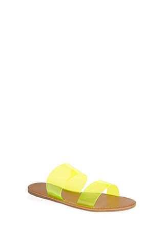Speak Clearly Wide Strap Slide Sandals