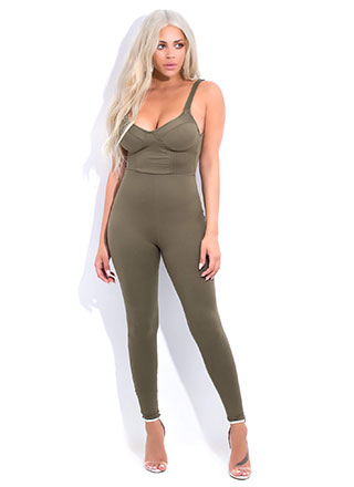 Call It A Catsuit Bustier Jumpsuit