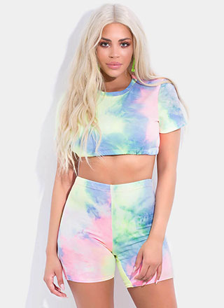Cotton Candy Tie-Dyed Crop Top