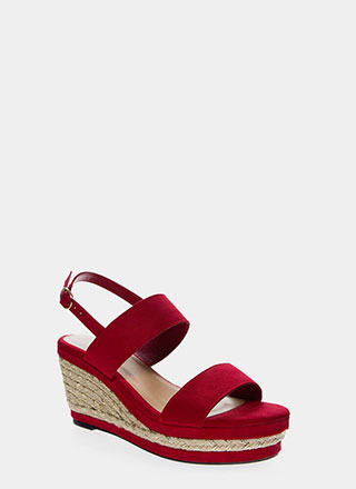Make It Shine Braided Platform Wedges