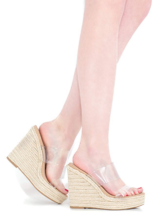 On A Clear Day Braided Illusion Wedges