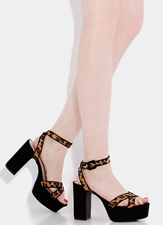 f39ce6cf73 Higher Calling Strappy Chunky Platforms