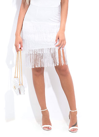 Flapper Party Fringed Midi Skirt