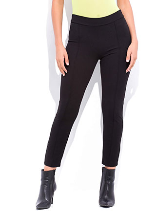 Business As Usual Pleated Skinny Pants